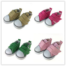 4pair/set mix color Canvas Shoes For Tilda Doll Fashion Mini Toy Shoes for 1/6 Bjd Shoes for Doll Accessories(China)