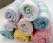 8 pcs/Lot Colorful Cotton Infant Baby Towel Small Square Washcloth Towels for Feeding Bathing 21*21cm(China)