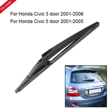Car Rear Windshield Wiper Arm and Blade U-type Soft Frameless Bracketless for Honda Civic 3 Door 2001-2006 5 Door 2001-2005(China)