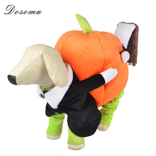 New Halloween Pumpkin Dog Costume Novel Pumpkin Pet Coats Fleece Dog Clothes Small Dog Super Cute Costume Fancy Pet Jackets