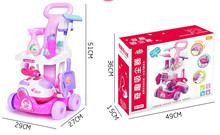 Girl toys child cart cleaning belt vacuum cleaner cleaning tools play house toy clear toys(China)