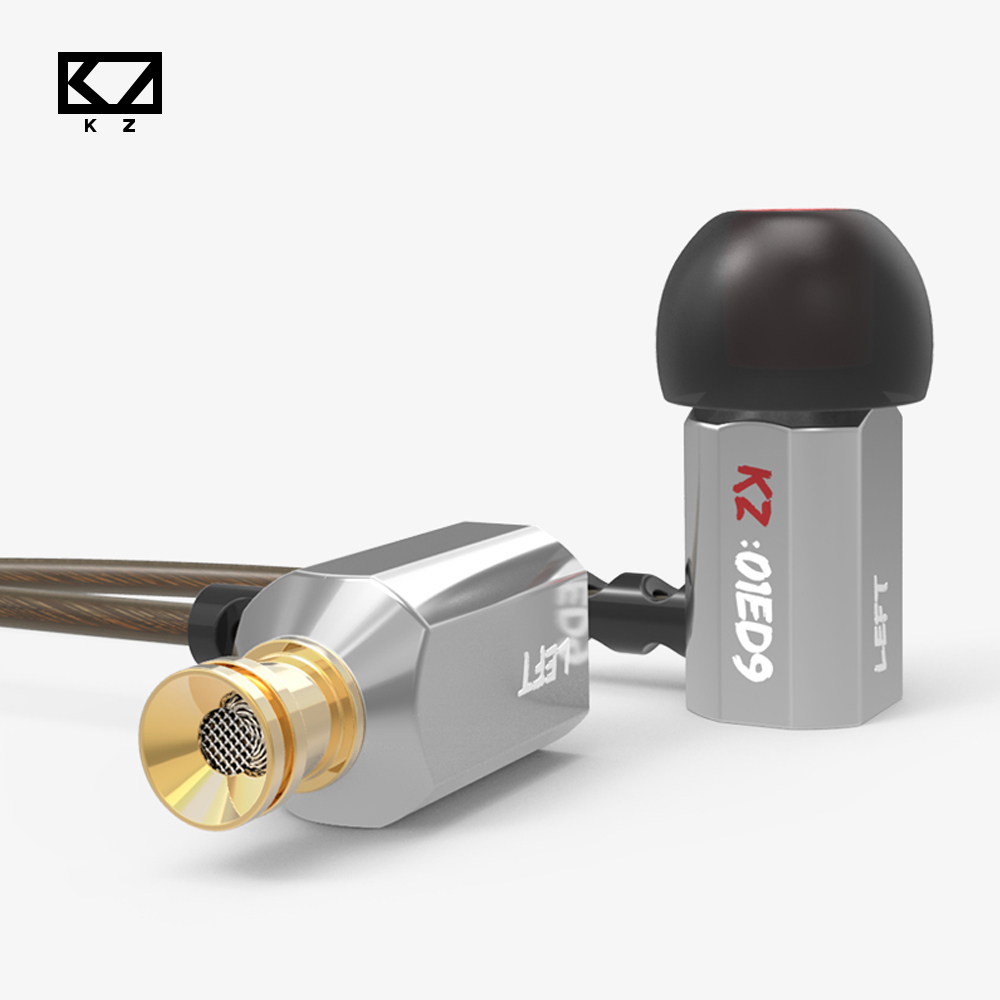 Original KZ ED9  In Ear Earphones Super Bowl Tuning Nozzles T Shaped Driver Metal Monitoring Earphone With Mic Stereo Earphones<br><br>Aliexpress