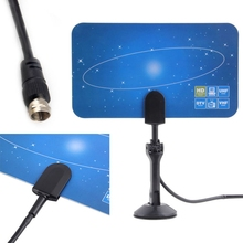 1080p Digital Indoor Flat High Gain Antenna for HD TV HDTV DTV VHF UHF PC NB  CB0535