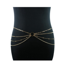 LASPERAL Gold Multilayer Women Sexy Body Chain Simple Fashion Sexy Summer Waist Chain