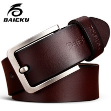 Real cowhide belt's men high quality Pin buckle belts for men and women leisure belt young men belts cummerbunds width of waist