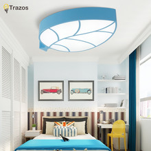 2017 New  LED ceiling Light Leaf design Blue/Yellow/Pink/Green 90-260V modern Led ceiling lamp for 15 -30 Square meters