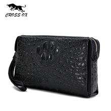 CROSS OX 2017 New Arrival Alligator Pattern Wallet For Men Genuine Leather Day Clutch Luxury Wristlet Purses For Men WL098M(China)