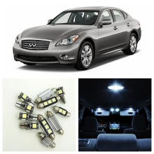 12pcs White Canbus Car LED Light Bulbs Interior Package Kit For 2011 2012 Infiniti M35h M37 M56 Dome Trunk Step Courtesy Lamp