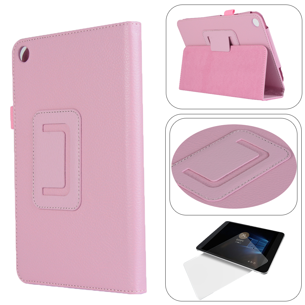 Fold Shell Case Magnetic Smart PU Leather Cover For Xiaomi MiPad 4 8.0 Inch + Tablet Ultra Thin HD Clear Film Screen Protector