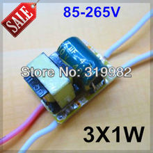 20pcs/lot, 3X1W led driver, 85-265V input 3*1W LED inside driver, 3W high power led lamp power supply transformer, free shipping