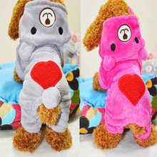 Bear Small Pet Dog Clothes Fleece Clothing with Hoodies Teddy Autumn Winter Puppy Apparel Dog Costume Jumpsuit Jumpers Outfit
