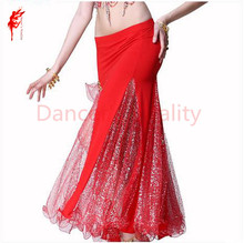 Belly dance costumes senior sexy Fine silver yarn fishtail belly dance skirt for women belly dancing clothes skirts