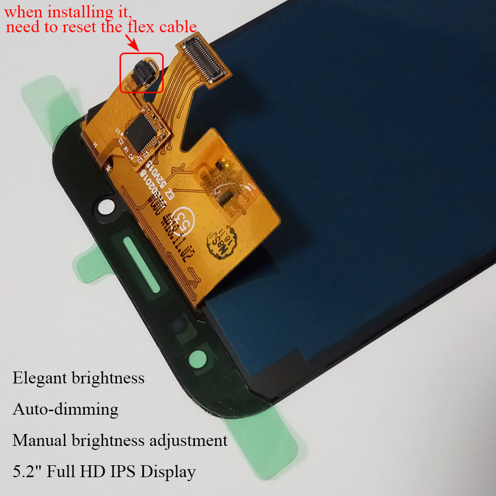 AMOLED LCD Replacement For Samsung Galaxy J5 2017 J530 J530F LCD Touch Screen Digitizer Assembly With Brightness Control Display (17)