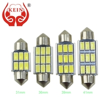 KEIN 31mm 36mm 39mm 41mm C3W C5W C10W SV8.5 LED Car CANBUS License Plate lights AUTO Reading Dome Festoon Lamp door InteriorBulb(China)