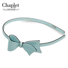 Chaplet 2016 New High Quality Girls Hair Accessories Hair Bows Sold Hairbands Elegant Hair Jewelry Bow Headband Free Shipping