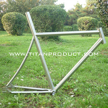 Titanium fixed gear bicycle frame Track Bicycle Frame with Integrated Seatpost(China)