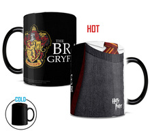 Drop shipping- HP CRYFFINDOR mug color changing magic mugs cup Tea coffee mug cup for friend children gift