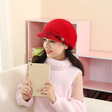 Free shipping Korean version of women's knitted caps Warm wool knitting peaked cap winter warm hats 8 Color