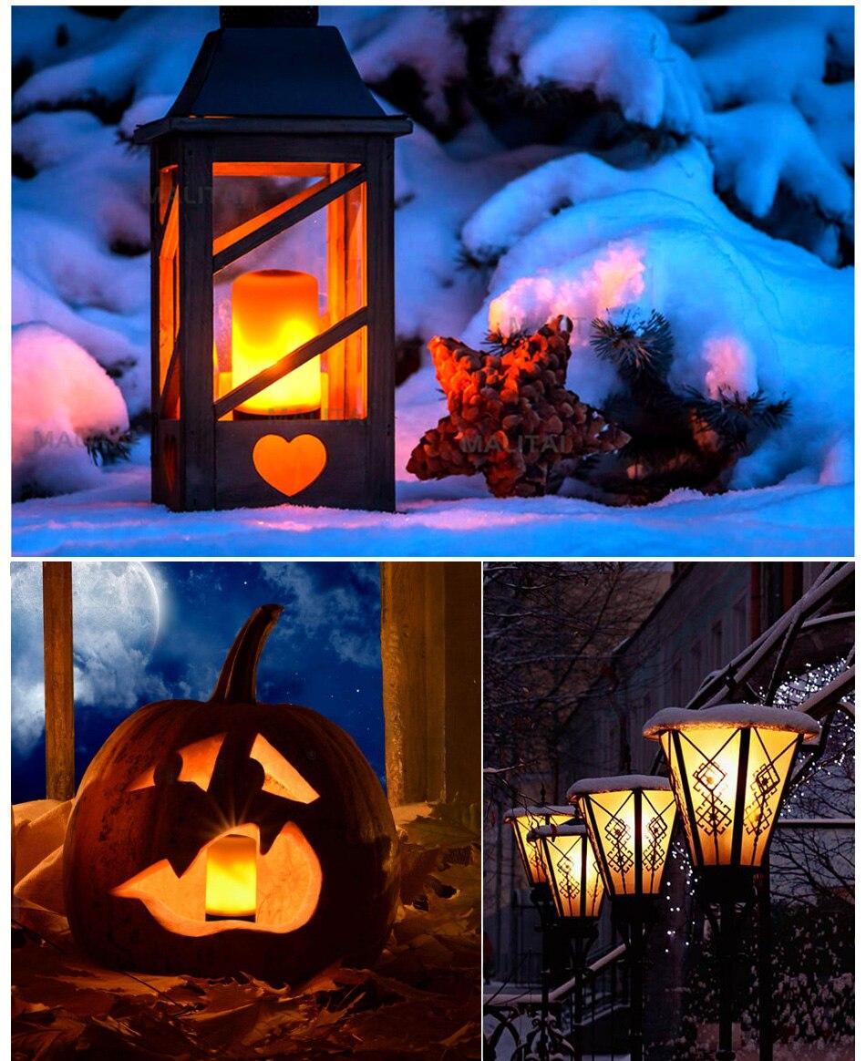 LED Flame Lamp Solar Waterproof Lawn Light Dancing Flickering Torch Lights Garden Outdoor Landscape Decorative Path Lighting (22)