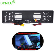 BYNCG 2018 New Universal Waterproof Europe License Plate Frame with 170 degree Wide Viewing Angle Rear View Camera(China)