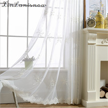 Pearl Yarn Embroidered Lace Embroidered Flower Dance Curtains for Living Dining Room Bedroom(China)