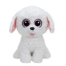 Hot Ty Beanie Boos Original Big Eyes Plush Toy Doll Child Birthday Gifts Cute White Dog Toys Baby 25cm Best Toys for Children(China)