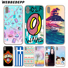 WEBBEDEPP Golf Wang Odd Future Hard Cover Case for iPhone 8 7 Plus 6 6s Plus 5 5S SE 5C 4 4S X/10