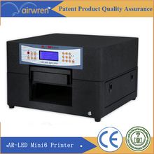 6 Color Led Uv Flatbed printer A4 Size UV Glass printer with Free RIP