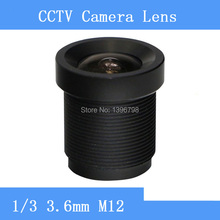 Infrared night vision surveillance camera lens M12 interfaces 3.6mm CCTV lens