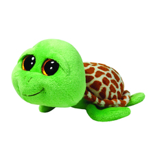 "Pyoopeo Original 6"" 18cm TY Beanie Boos Zippy the Green Turtle Plush Stuffed Animal Collectible Big Eyes Doll Toy"