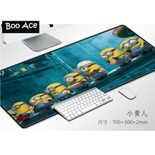 Minions Totoro Cute Cartoon Print Mouse Pad Smooth Gaming Desk Mice Mat Size 70*30cm(China)