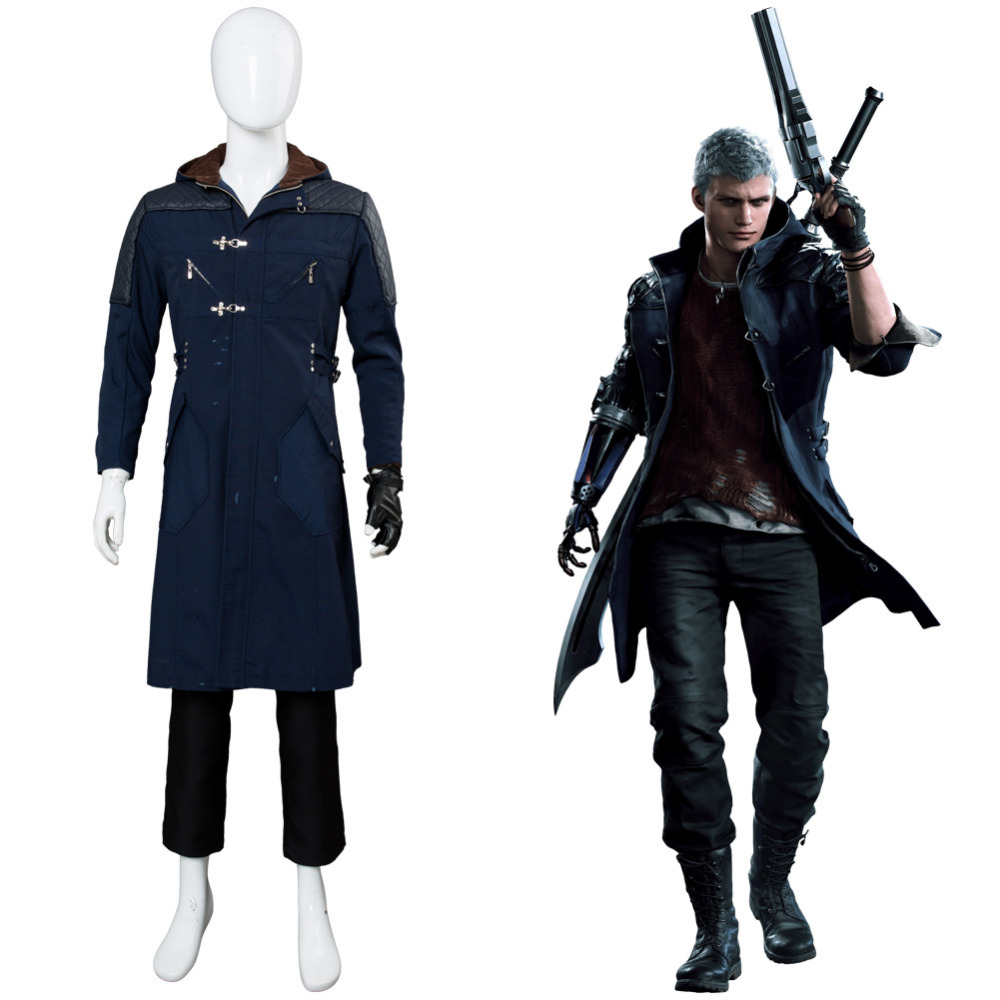DmC: Devil May Cry 5 Nero Cosplay Costume Outfit Video Game DmC Cosplay Costume