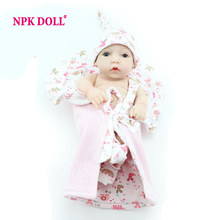 10 Inch Gentle Touch Vinyl Mini Baby Reborn Doll For Promotion Soft Full Silicone Body Miniature Dolls Bath Toy
