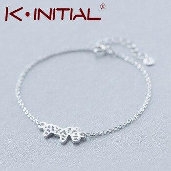 Kinitial 1Pcs New Cuff Bracelet 925 Silver Bracelets Zebra Pendant Bangles Wristbands for Women