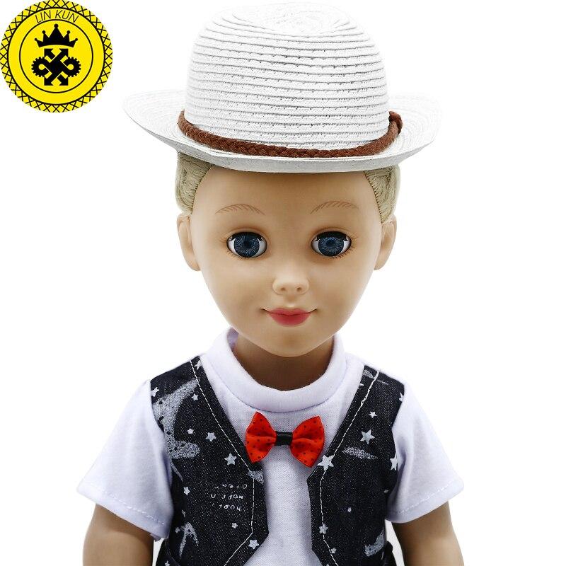 Compre Doll Hat 2 Style Sombreros De Paja De Verano En Forma De 43cm ... 087917f5cf8