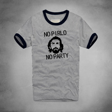 2016 Brand Summer Hot Logo printed Pirlo No Party Andrea Juventus Letters Funny T Shirts Mens Cotton O Neck Mans T-Shirt