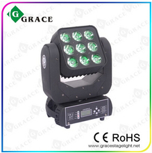 2015 new hotsale free shipping 3x3 9*12w rgbw 4in led moving head matrix sweeper beam light(China)