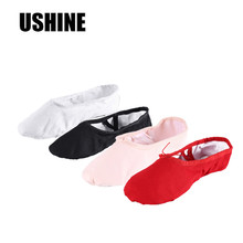According The CM To Buy,Canvas Flat Ballet Shoes For Girls Children Woman Teacher Gym Yoga Teacher Slippers Free Shipping(China)