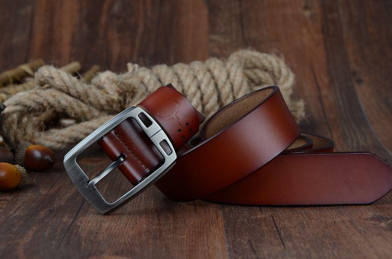 حزام COWATHER جلد طبيعي للرجال 25