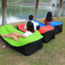 2017 new sale banana high quality outdoor air sofa easy lay bag inflatable sleeping bag portable sofa couch nylon air bed bag