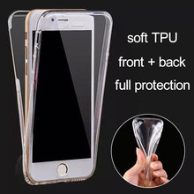 100% Full Body Protection case for iPhone 6 6S Plus 7 5 5S soft TPU material front + back seamless style no need glass anymore