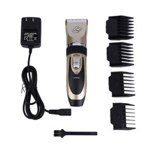 Electrical Pet Hair Clipper Grooming Kit Rechargeable Pet Cat Dog Hair Trimmer Shaver Set Haircut Machine US/EU Plug(China)