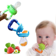 Baby Infant Pacifier Feeding Nipples Silicone Soft Solid Feed Tool Fruit Juice Bite Bags Sucking Nipple Toddler Teether(China)