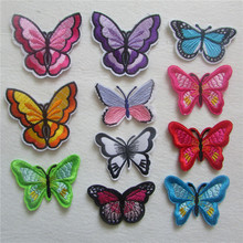 hot sell fashion 2016 year beautiful  butterfly hot melt adhesive applique embroidery patches stripes DIY clothing accessory
