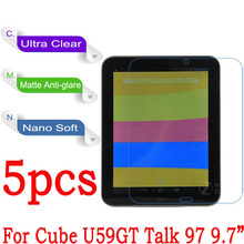 "9.7"" High Clear Soft Nano Explosion-proof Protective Film For Cube U59GT Talk 97 Tablet PC Screen Protector(Not Tempered Glass)(China)"
