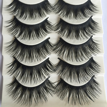 Popular 5 Pairs/set Beauty Thick Long eyelashes Makeup False Eyelashes Black Nautral Handmade Eye Lashes Extension(China)