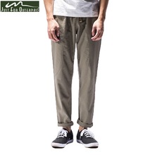 2017 New Spring Summer Pants Men Casual Brand Cotton Linen Trousers Fashion Male Straight Thin Ankle-Length Jogger Pants M-3XL