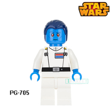 Building Blocks Grand Admiral Thrawn Figures Galactic Empire Star Wars Super Hero Set Model Action Bricks Kids DIY Toys Hobbies