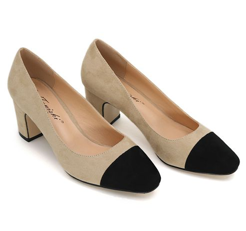 6.5cm BLOCK heel womens pumps shoes for 201 spring new design PR342 flock suede pu leather ladies woman brand office pumps<br><br>Aliexpress