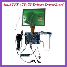 VGA+AV+OSD tft VGA driver board VS-MD07080V.2 +8inch tft with touch screen panel 800x600 resolution AT080TN52 for car DVR